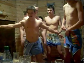 Russian Gay Boys in Sauna